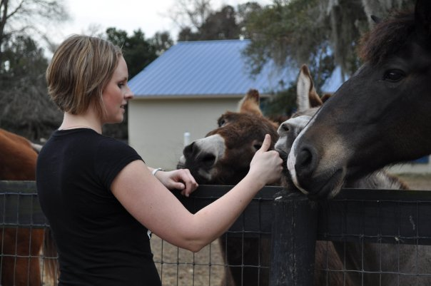 Me with some sweet donkeys